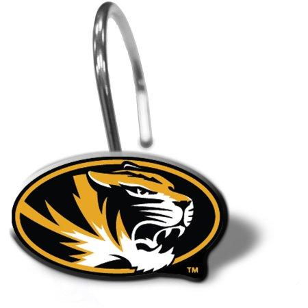 NCAA University of Missouri Tigers 12pc Shower Curtain Rings Set