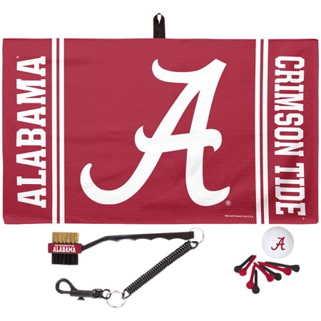 Alabama Crimson Tide WinCraft Waffle Towel Golf Gift Set - No Size