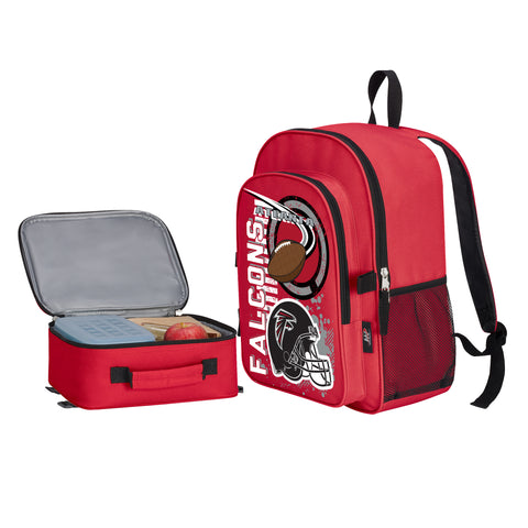 "NFL Atlanta Falcons ""Accelerator"" Backpack and Lunch Bag / Box Set"