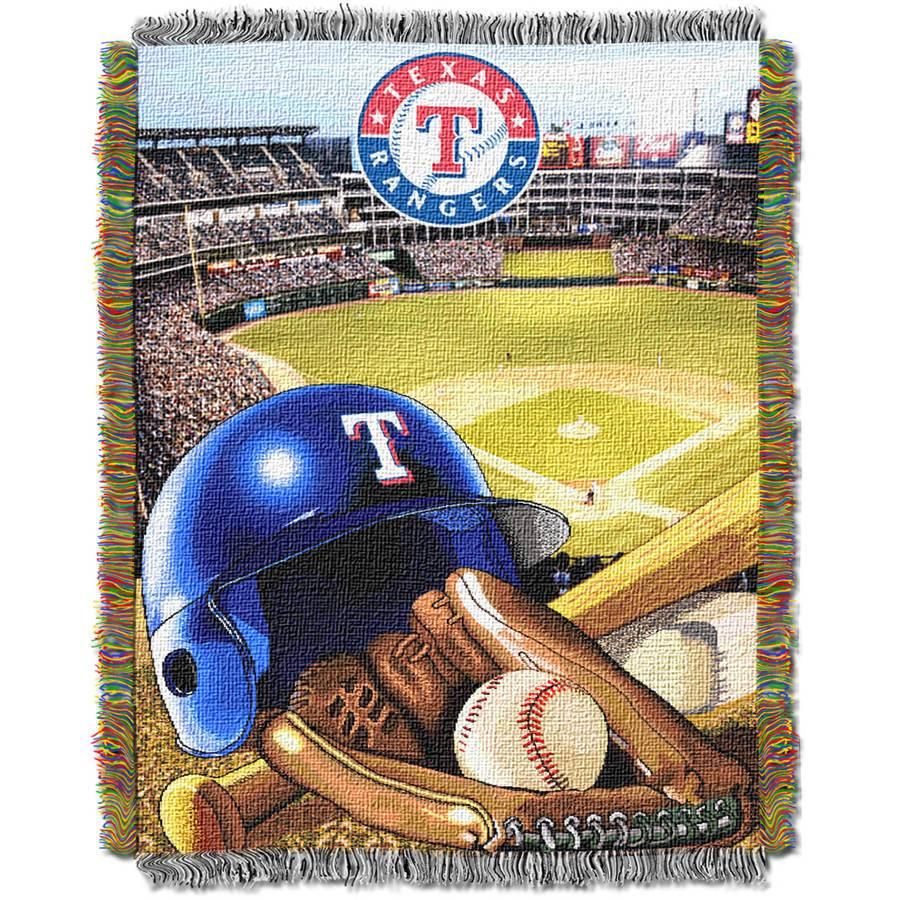 "MLB 48"" x 60"" Home Field Advantage Series Tapestry Throw, Rangers"