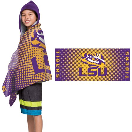 "NCAA Louisiana State Tigers ""Dots"" Youth Terry Cloth Hooded Wrap Towel"