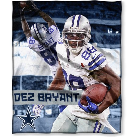 "NFL Players Association Dez Bryant 50"" x 60"" Dallas Cowboys Players High Definition Silk Touch Throw"
