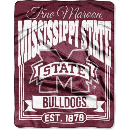 "NCAA Mississippi State Bulldogs ""Traction"" 55"" x 70"" Silk Touch Throw"