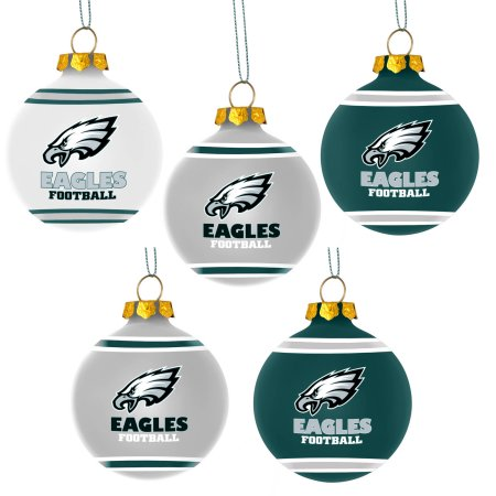 Forever Collectibles NFL 5-Pack Shatterproof Ball Ornaments - Philadelphia Eagles