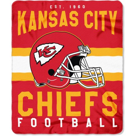 "NFL Kansas City Chiefs ""Singular"" 50"" x 60"" Fleece Throw"