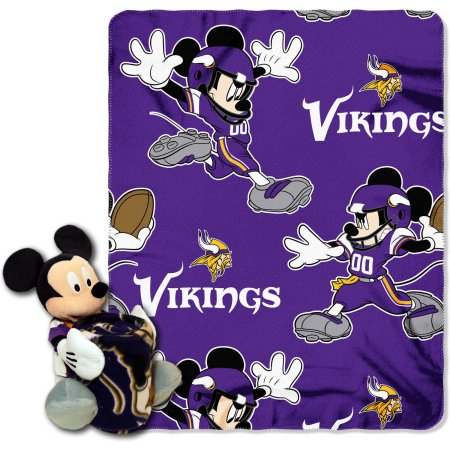 "Disney NFL Minnesota Vikings Hugger Pillow and 40"" x 50"" Throw Set"