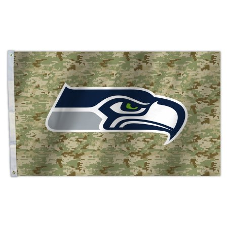 NFL Seattle Seahawks Camo 3X5 Flag