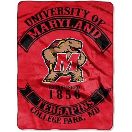 "NCAA Maryland Terrapins ""Rebel"" 60"" x 80"" Raschel Throw"