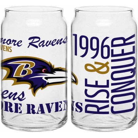 Boelter Brands NFL Baltimore Ravens Set of Two 16 Oz Spirit Glasses
