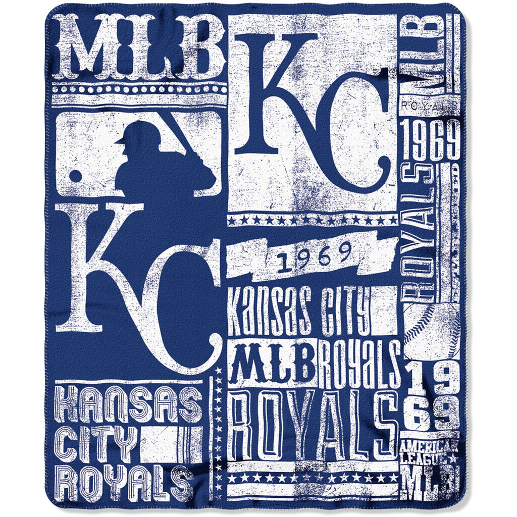 "MLB Kansas City Royals 50"" x 60"" Fleece Throw"