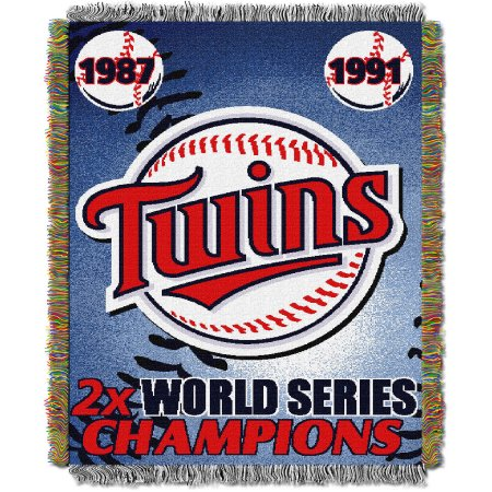 "MLB 48"" x 60"" Commemorative Series Tapestry Throw, Twins"