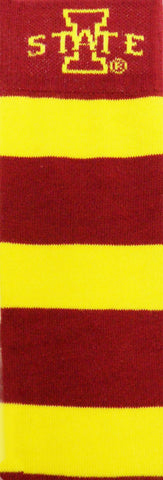 NCAA Iowa State Cyclones Gold & Red Rugby Stripe Dress Socks