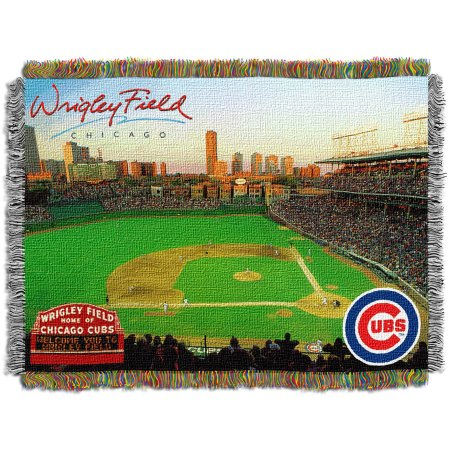 "MLB 48"" x 60"" Stadium Series Tapestry Throw, Chicago Cubs Wrigley Field"