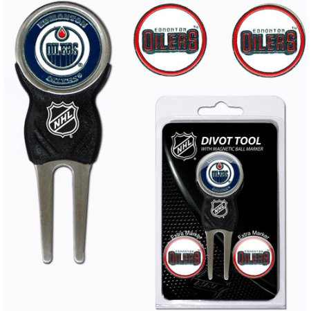 Team Golf NHL Edmonton Oilers Divot Tool Pack With 3 Golf Ball Markers