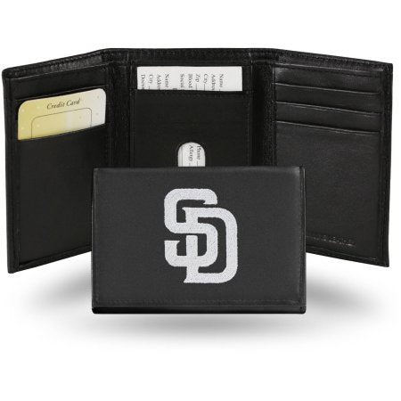 MLB Men's San Diego Padres Embroidered Trifold Wallet