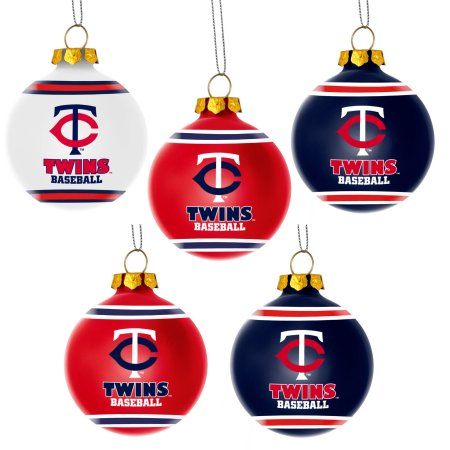 Forever Collectibles MLB 5-Pack Shatterproof Ball Ornaments - Minnesota Twins