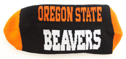 NCAA Oregon State Beavers Black Quarter Socks