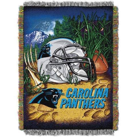"NFL 48"" x 60"" Tapestry Throw Home Field Advantage Series- Panthers"