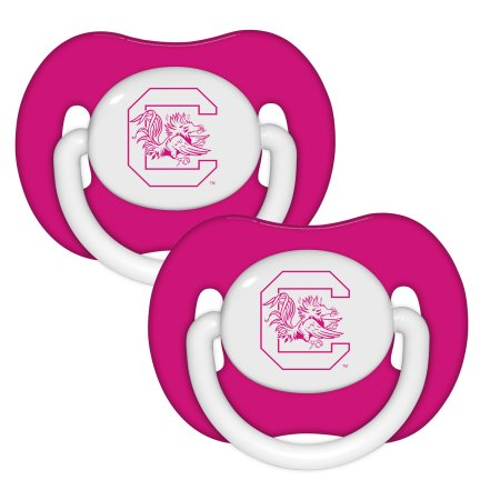 NCAA South Carolina Gamecocks Pink Pacifier 2-Pack