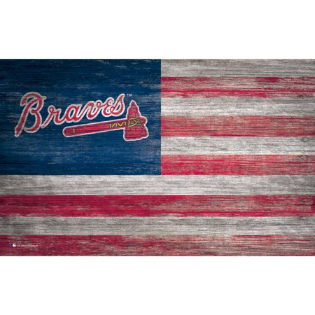 MLB Atlanta Braves 11'' x 19'' Distressed Flag Sign