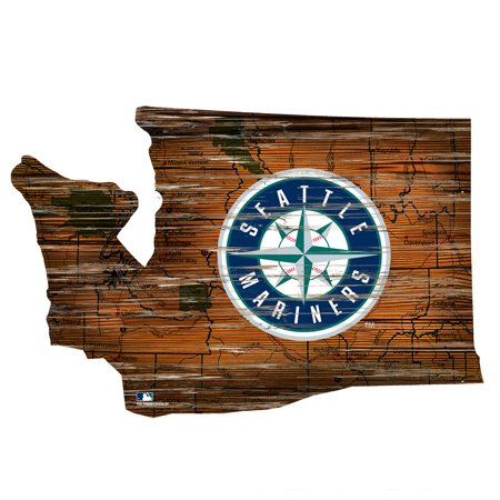 MLB Seattle Mariners 12'' Road Map State Cutout Sign