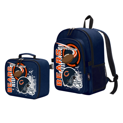 "NFL Chicago Bears ""Accelerator"" Backpack and Lunch Bag / Box Set"