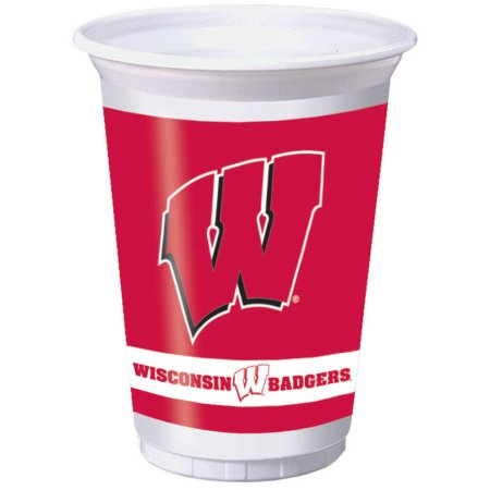 NCAA Wisconsin Badgers Plastic Cups, 8-Pack