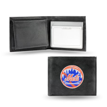 MLB Men's New York Mets Embroidered Billfold Wallet