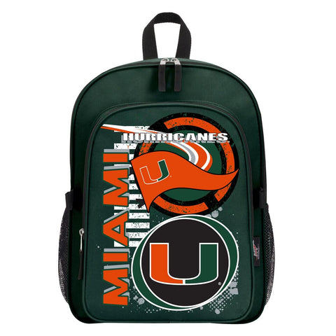 "Miami Hurricanes ""Accelerator"" Backpack and Lunch Bag / Box Set"