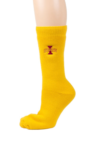 NCAA Iowa State Cyclones Gold Thermal Socks