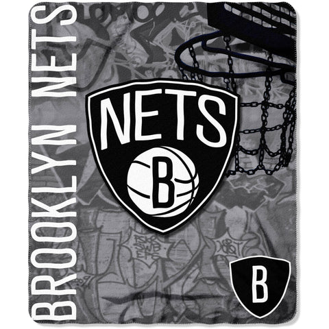 "NBA Brooklyn Nets 50"" x 60"" Fleece Throw"
