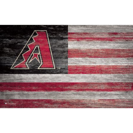 MLB Arizona Diamondbacks 11'' x 19'' Distressed Flag Sign