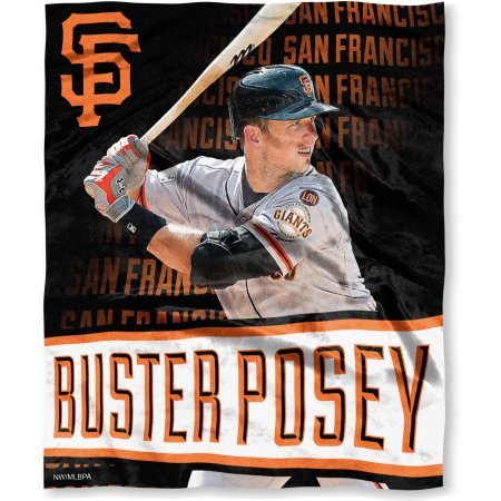 "MLB Players Association 50"" x 60"" San Francisco Giants Players High Definition Silk Touch Throw, Buster Posey"