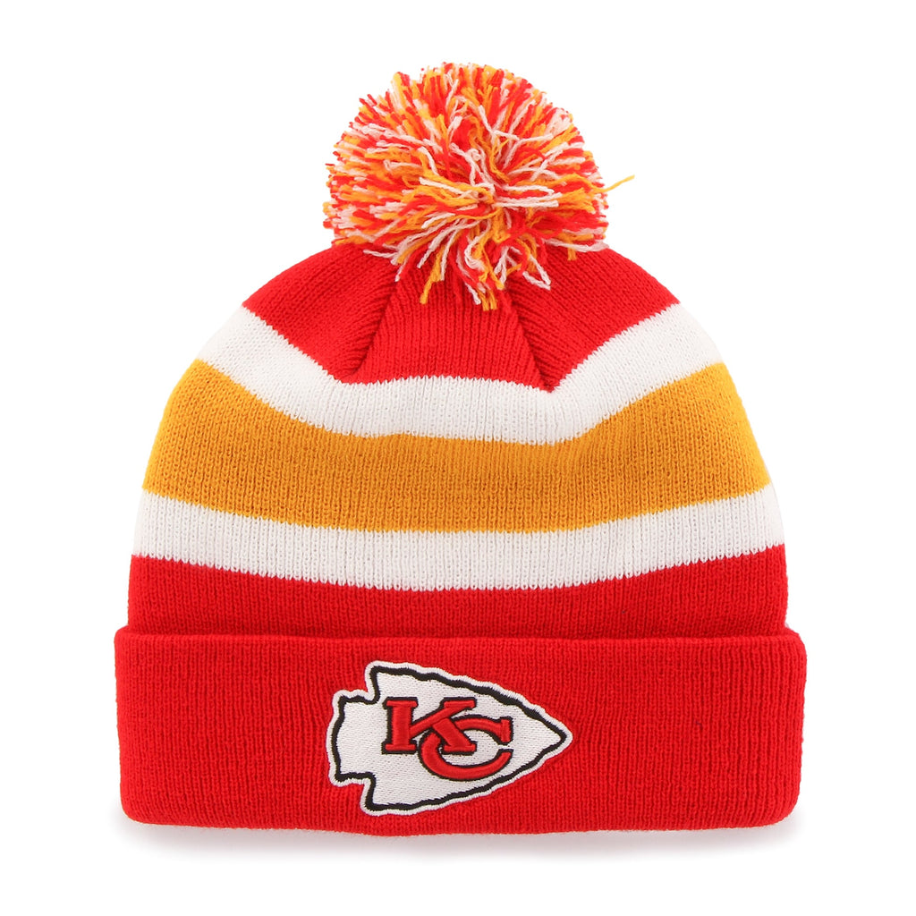 NFL Kansas City Chiefs Retro Breakaway Stocking Hat Beanie with Pom