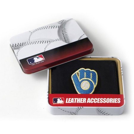 MLB Men's Milwaukee Brewers Embroidered Trifold Wallet
