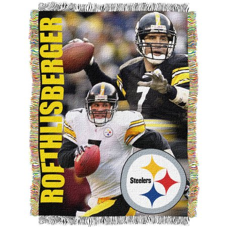 "NFL 48"" x 60"" Players Series Tapestry Throw, Ben Roethlisberger"