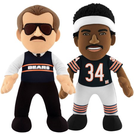 "Bleacher Creatures Dynamic Duo 10"" Plush Figures, Bears Ditka and Payton"
