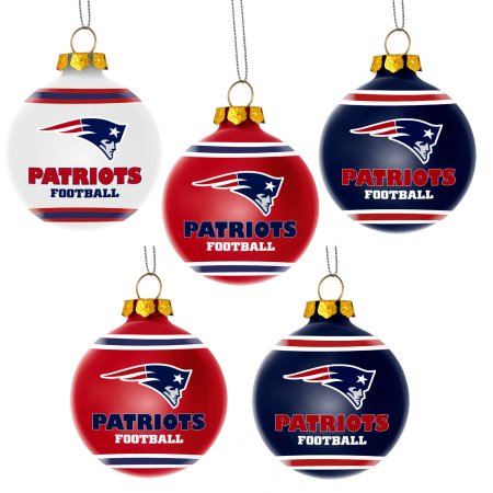 Forever Collectibles NFL 5-Pack Shatterproof Ball Ornaments - New England Patriots