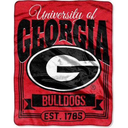 "NCAA Georgia Bulldogs ""Traction"" 55"" x 70"" Silk Touch Throw"