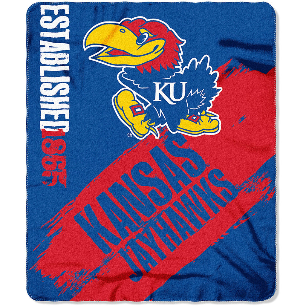 "NCAA Kansas Jayhawks 50"" x 60"" Fleece Throw"