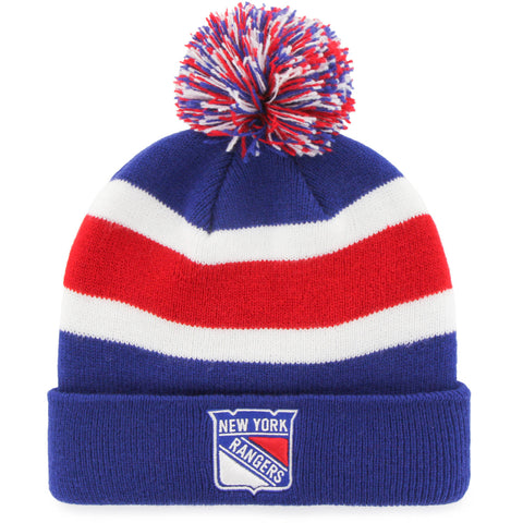 MLB New York Rangers Retro Breakaway Stocking Hat Beanie with Pom