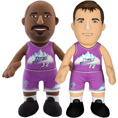 "Bleacher Creatures Dynamic Duo 10"" Plush Figures, Jazz Stockton and Malone"