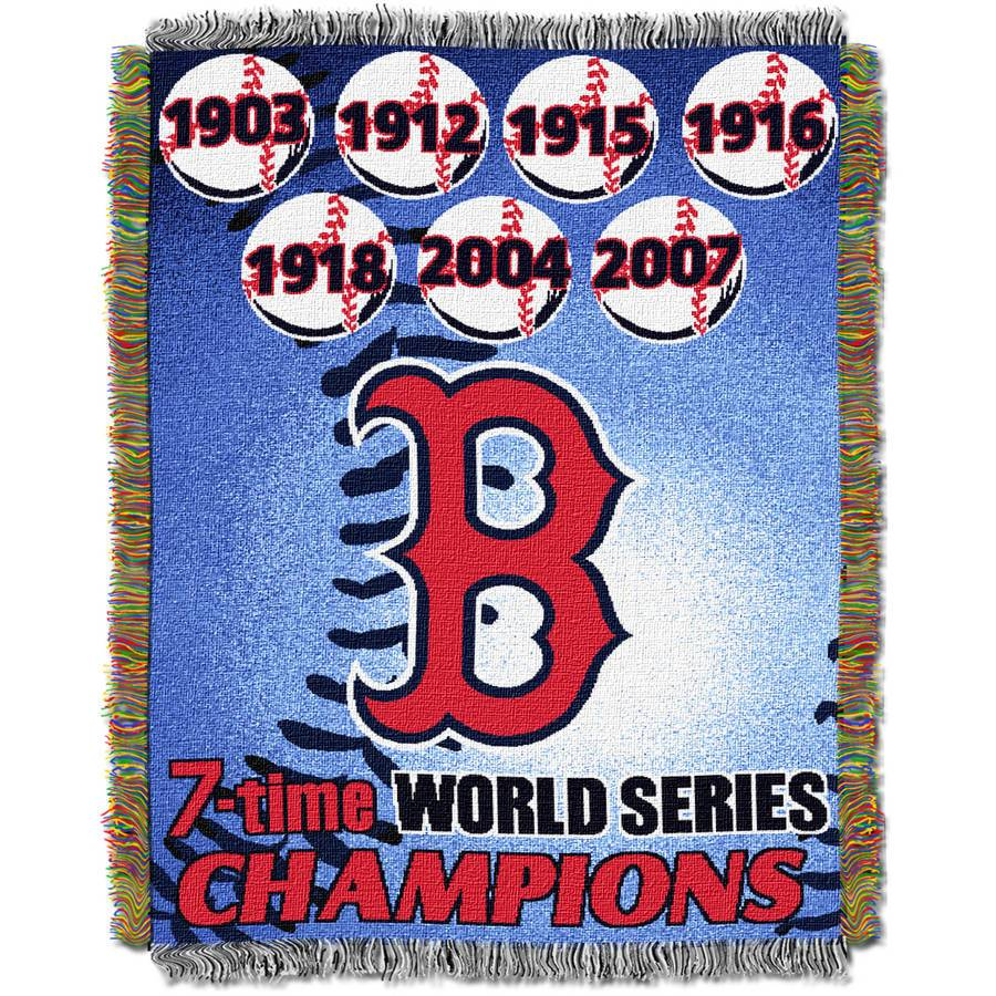 "MLB 48"" x 60"" Commemorative Series Tapestry Throw, Red Sox"