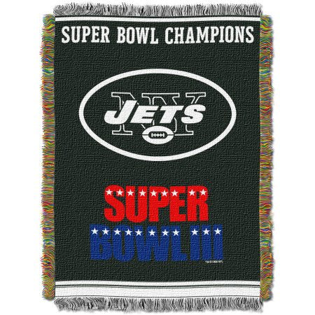 "NFL 48"" x 60"" Commemorative Series Tapestry Throw, Jets"