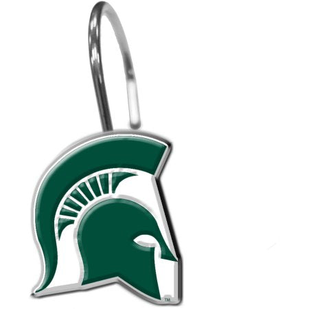 NCAA Michigan State Spartans 12-Piece Shower Curtain Ring Set