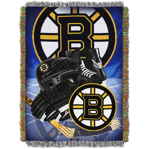 "NHL 48"" x 60"" Home Ice Advantage Series Tapestry Throw, Bruins"
