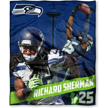 "NFL Players Association Richard Sherman 50"" x 60"" Seattle Seahawks Players High Definition Silk Touch Throw"