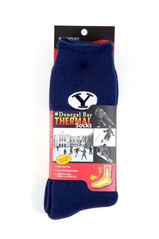 NCAA BYU Cougars Blue Thermal Socks