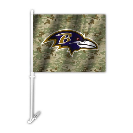 NFL Baltimore Ravens Camo Car Flag