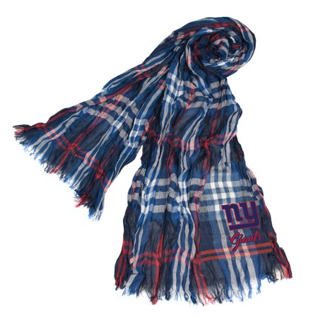 Little Earth - NFL Crinkle Plaid Scarf, New York Giants